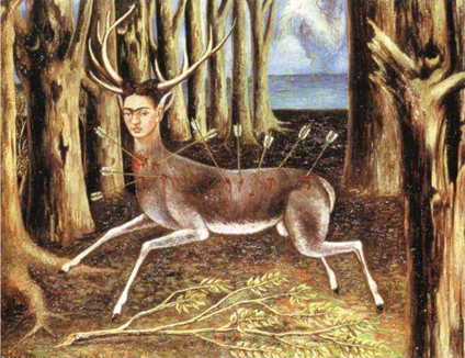 "Frida Khalo's 1946 oil painting ""The Wounded Deer"""